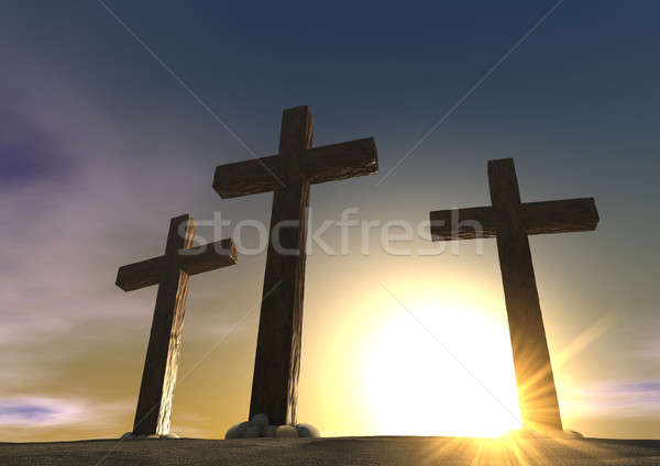 The Crucifixion Close Stock photo © albund