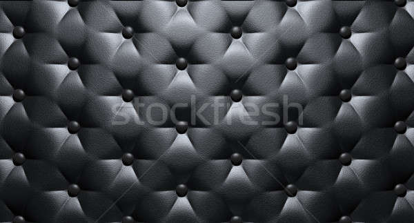 Buttoned Luxury Black Leather Top Stock photo © albund