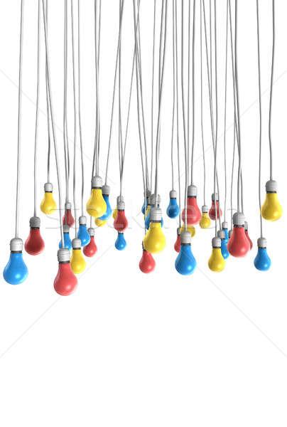 Kleur opknoping groep regelmatig bevestigd Stockfoto © albund