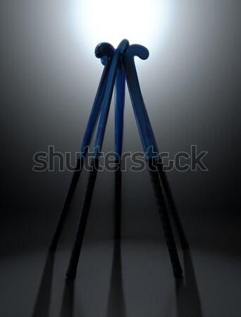 Jégkorong kör körkörös tömb kék fekete Stock fotó © albund