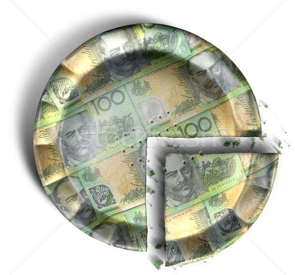 ломтик австралийский доллара деньги пирог Top Сток-фото © albund