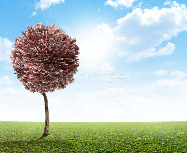 Money tree İngilizler pound stilize fantezi efsanevi Stok fotoğraf © albund
