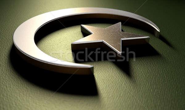 Müslüman star Metal yeşil Stok fotoğraf © albund