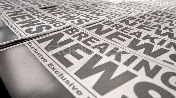 Newspaper Press Run End Stock photo © albund