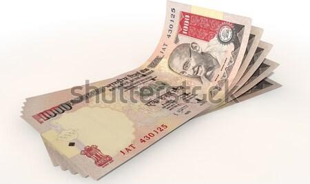 Font bank jegyzetek csoport öt bankjegyek Stock fotó © albund