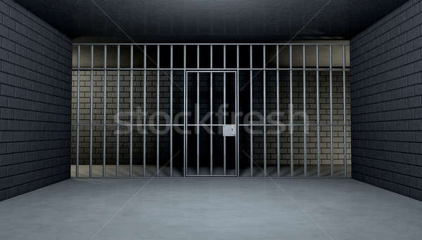 Empty Jail Cell Looking Out Stock photo © albund