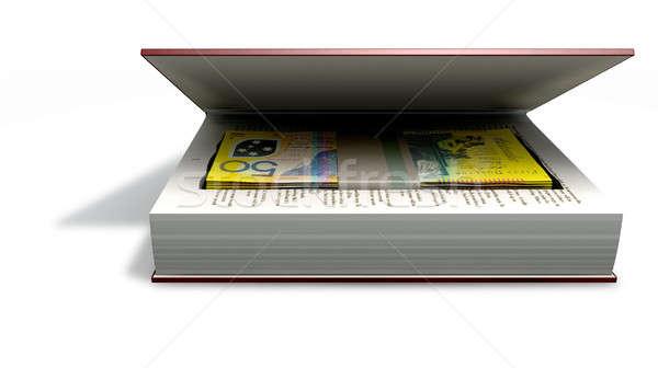オーストラリア人 ドル 銀行 ノート 図書 フロント ストックフォト © albund
