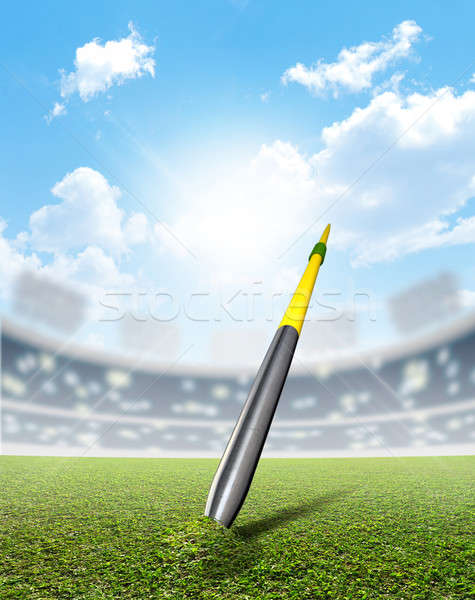 Stadion zöld tőzeg általános sportok zöld fű Stock fotó © albund