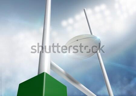 Rugby Posts Conversion Day Stock photo © albund