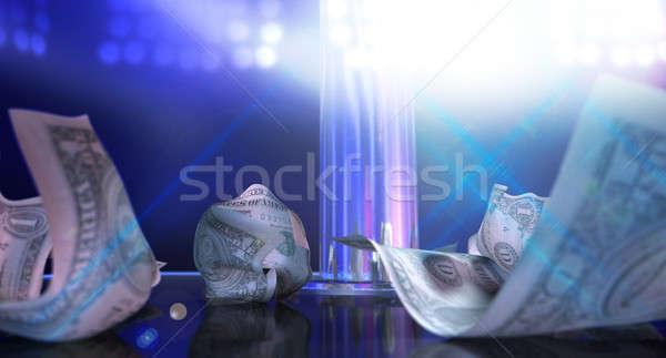 Stockfoto: Afstrijker · tips · fase · geïsoleerd · paal · spotlight