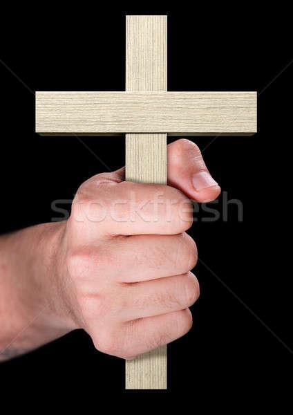 стороны распятие мужчины крест Сток-фото © albund