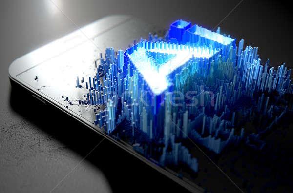 人工知能 スマートフォン 微視的 クローズアップ 小 キューブ ストックフォト © albund