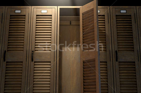 Vintage Locker And Open Door Stock photo © albund
