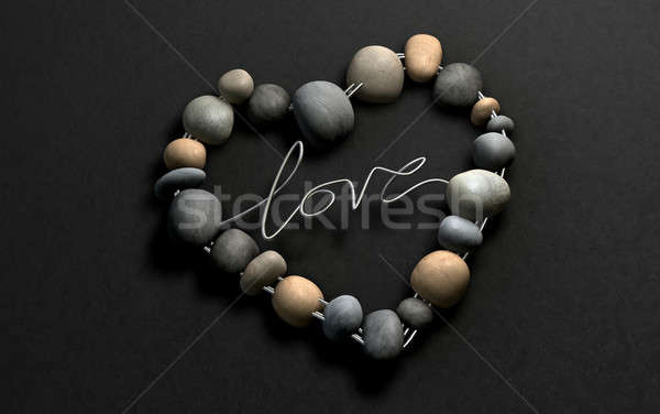 Love Rocks Your Heart, naturally Stock photo © albund