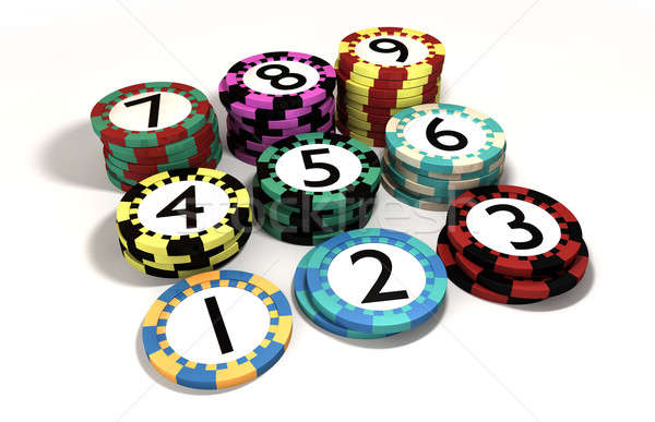 Casino Chip Stacked In Quantity Order Stock photo © albund