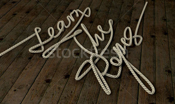 Learn The Ropes Rope Stock photo © albund