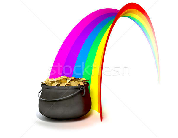 Stock photo: Pot O' Gold At The End Of A Rainbow