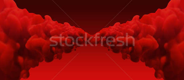 Abstract Red Merging Inks Stock photo © albund