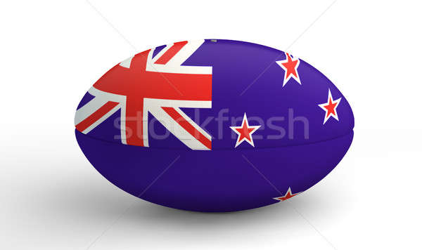 New Zealand Rugby Ball On White Stock photo © albund