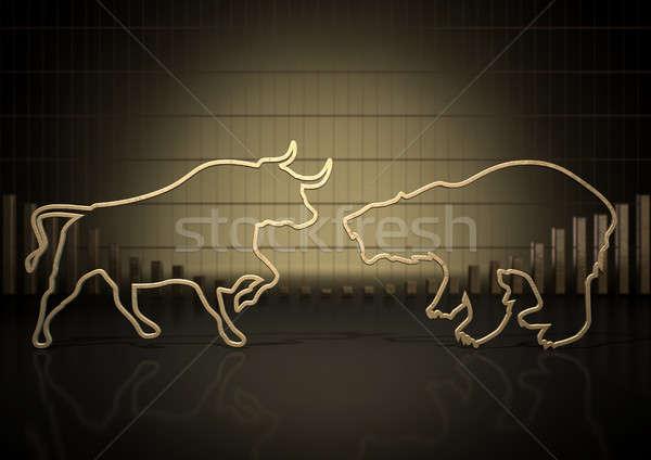 Bull And Bear Market Trends Stock photo © albund