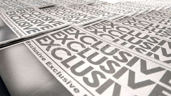 Newspaper Exclusive Press Run End Stock photo © albund
