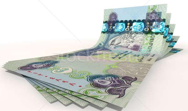 Dirham Bank Notes Spread Stock photo © albund