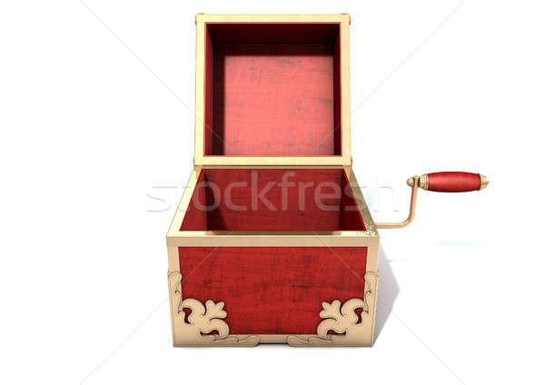 Abierto antiguos loco rojo madera Foto stock © albund