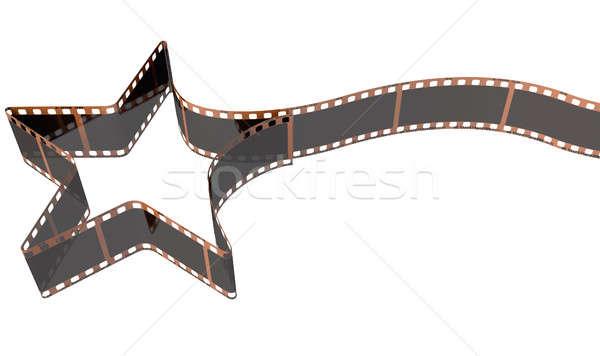 Foto d'archivio: Film · strip · stella · cadente · vecchio · film