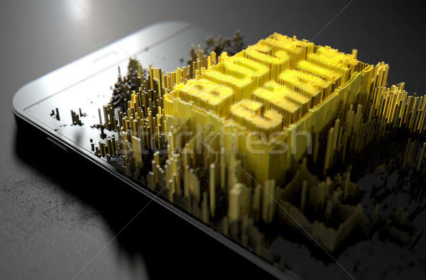 Block Chain Cloner Smartphone Stock photo © albund