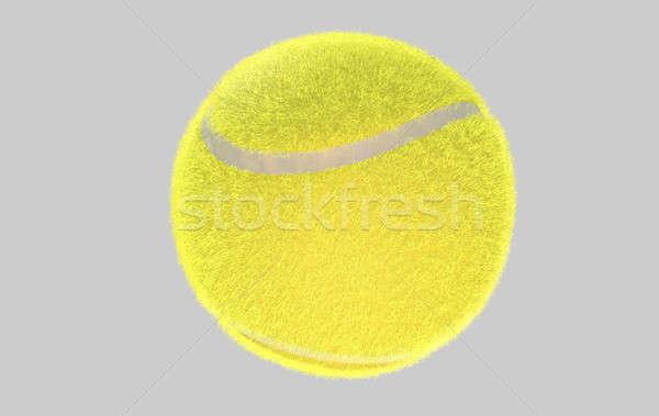 Tennisbal regelmatig algemeen Geel geïsoleerd 3d render Stockfoto © albund