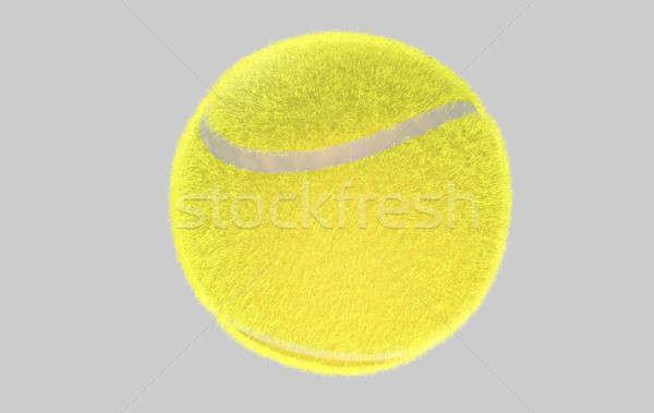 Bola de tênis regular amarelo isolado 3d render Foto stock © albund