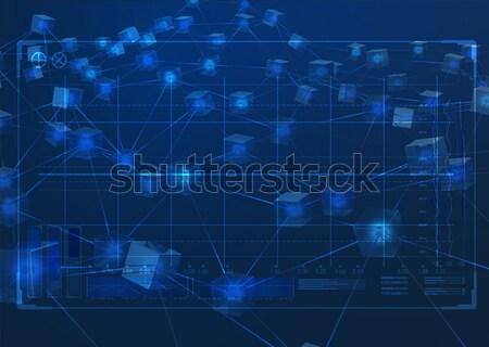 Veri ağ bloklar teknik analiz Stok fotoğraf © albund