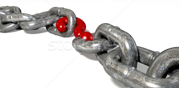 Chain Missing Link Question Mark Stock photo © albund