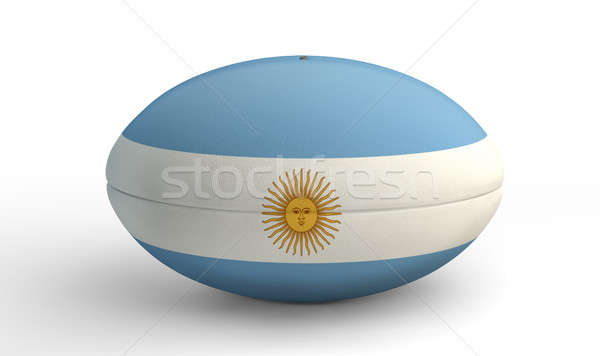 Argentina Rugby Ball On A Kicking Tee Stock photo © albund