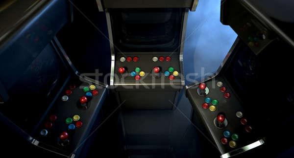 Arcade Machine Group Huddle Stock photo © albund