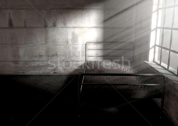 Yatak çivi oda mecaz çalıştırmak Stok fotoğraf © albund