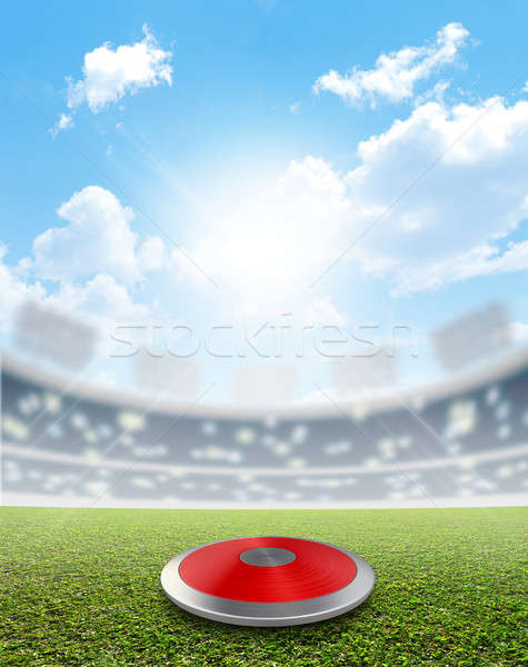 Discus Stadium And Green Turf Stock photo © albund