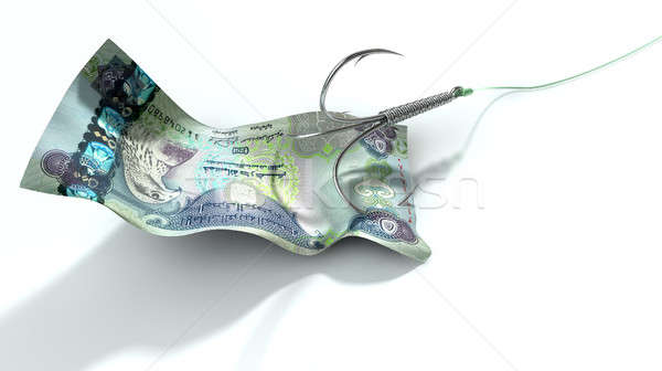 Dirham Banknote Baited Hook Stock photo © albund