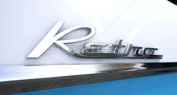 Retro Chrome Car Emblem Stock photo © albund