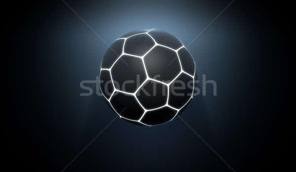 Futuriste néon sport balle noir Photo stock © albund