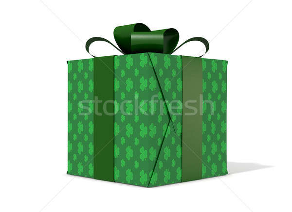 St Patricks Day Cube Gift Stock photo © albund