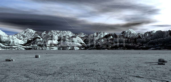 Barren Lanscape With Mountains Stock photo © albund