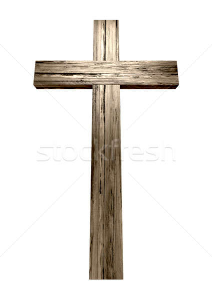 Wooden Crucifix Stock photo © albund