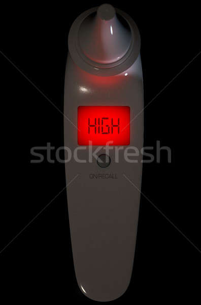 Child Ear Thermometer High Red  Stock photo © albund