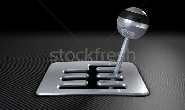 çelik krom sopa vardiya karbon lif Stok fotoğraf © albund