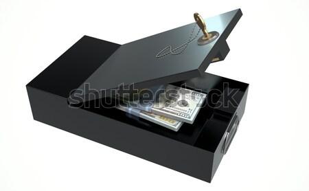 Black Safe Deposit Box Stock photo © albund