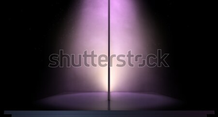 Stripper Pole Spotlit Stock photo © albund