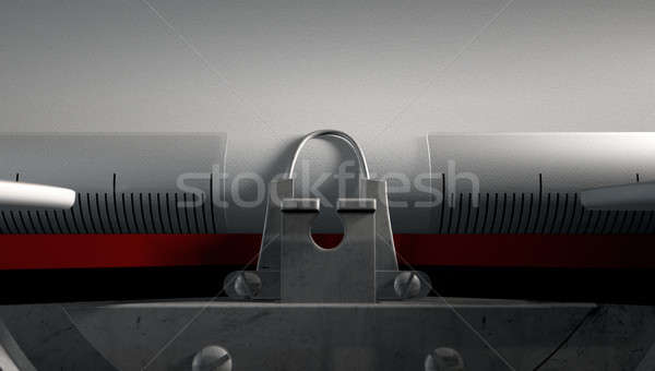 Typewriter Closeup Stock photo © albund