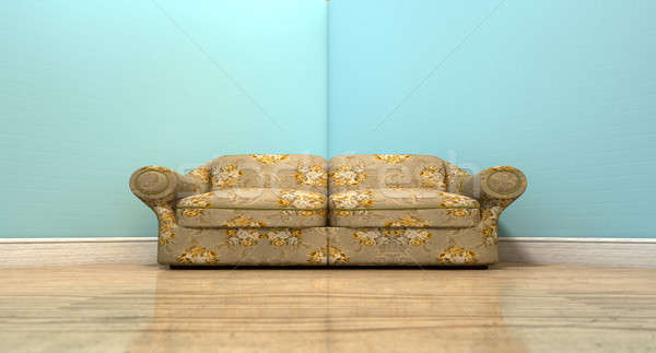 Old Classic Sofa In A Room Stock photo © albund