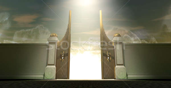 Heavens Open Gates Stock photo © albund
